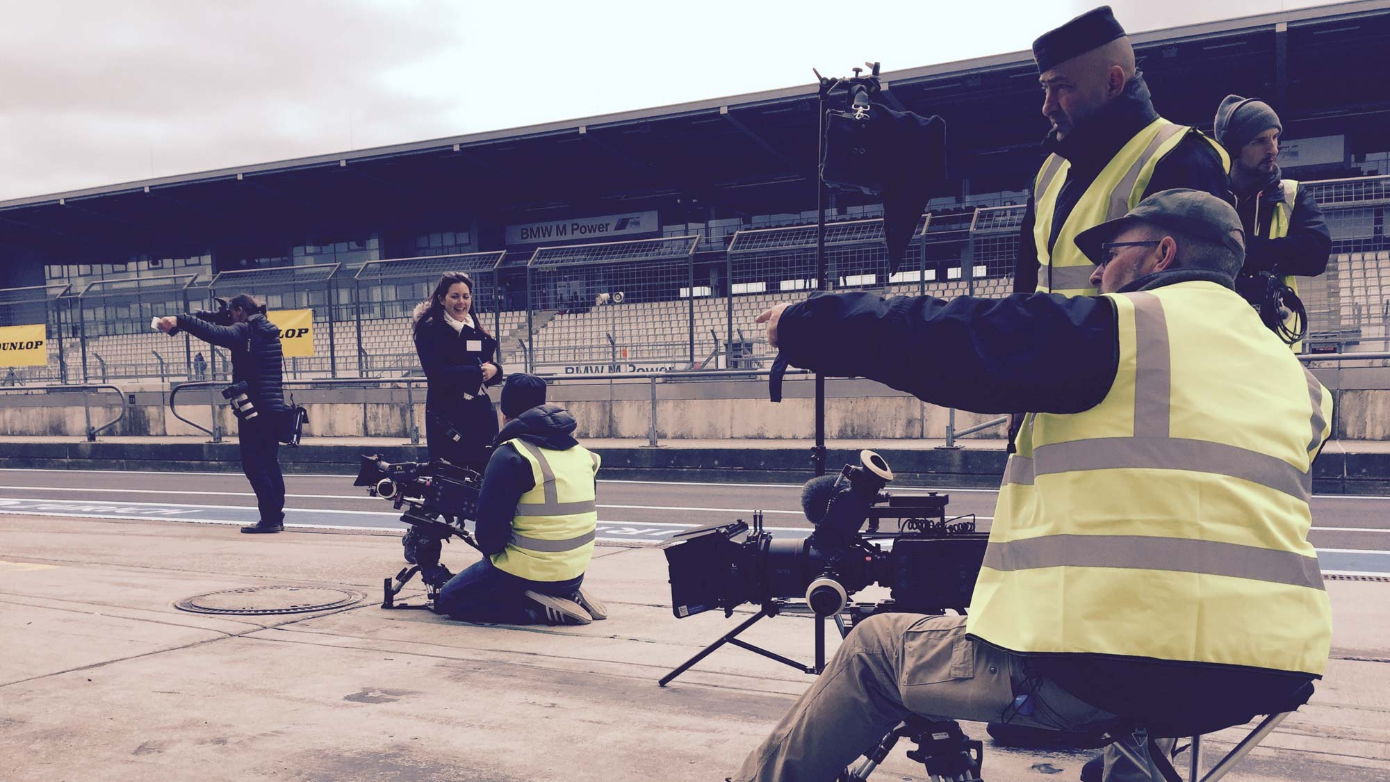 Dunlop - Superhero London - commercial production Germany, local DOP, Nürburgring