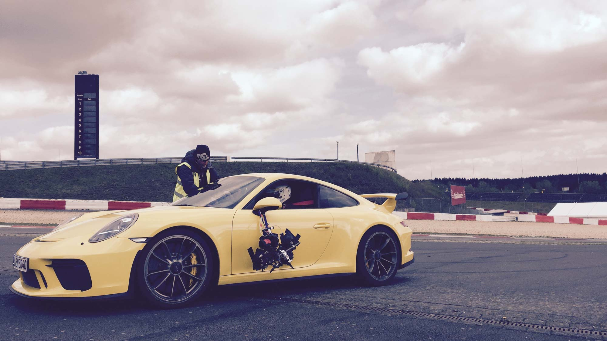 Dunlop - Superhero London - commercial production Germany, local team and equipment, Nürburgring, Arri Amira
